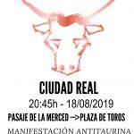 Convocan una manifestación antitaurina para el 18 de agosto que concluirá con una concentración frente a la Plaza de Toros