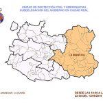 Activada la alerta naranja por fuertes lluvias en Ciudad Real