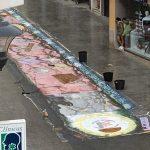 Puertollano: La alfombra floral de la Virgen de Gracia, dañada bajo el aguacero