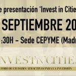 """Puertollano: Isabel Rodríguez participa este martes en el foro empresarial y de inversores """"Invest in Cities"""""""