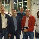 Miembros de la candidatura de Unidas Podemos se suman a la concentración de la Coordinadora en Defensa de las Pensiones