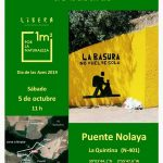 Organizan una recogida colectiva de basuras en la zona del Puente Nolaya