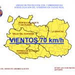 Alerta amarilla por fuertes rachas de viento de hasta 70 kilómetros/hora en Ciudad Real