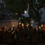 Una performance de la Escuela de Acogida Oasis conmemora el Día de los Derechos Humanos
