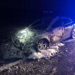 Puertollano: Un coche queda totalmente calcinado tras un fallo mecánico