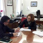 La subdelegada Herreros recibe el alcalde de Mestanza
