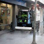 Ciudad Real: El Servicio de Limpieza lleva a cabo la desinfección de las calles y lugares con mayor afluencia de personas
