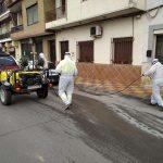 El Ayuntamiento de Villarrubia de los Ojos acomete labores de desinfección de calles y espacios públicos para evitar contagios